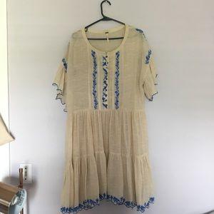 Free People boho dress w/ pockets